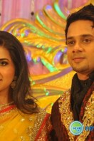 Actor Bharath-Jeshly wedding reception (1)