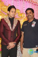Actor bharath marriage rception pics (1)