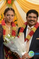 Director Kathir Marriage Reception Stills