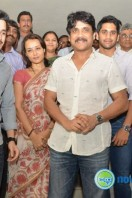 Nagarjuna Family at Sai Baba Temple Stills