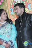 V Swaminathan Son Marriage Reception Stills